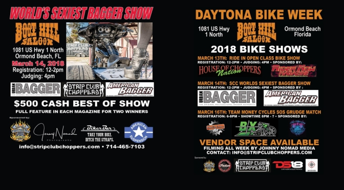 DAYTONA BIKE SHOWS AT THE BOOT HILL, ORMOND BEACH