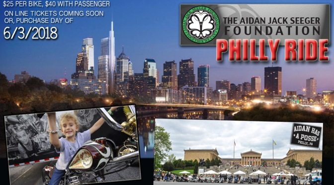 PHILLY AIDAN RIDE JUNE 3RD. GREAT CAUSE, JOIN US FOR THE DAY