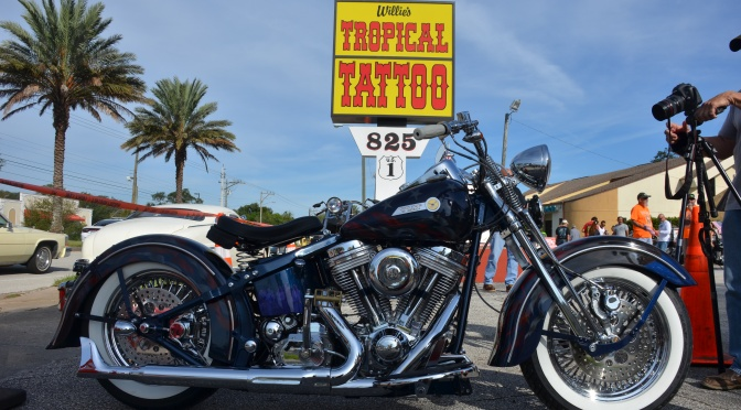 """CHOPPER DAVE CAPTURES THE """"TRUMP BIKE"""" AT WILLIES"""
