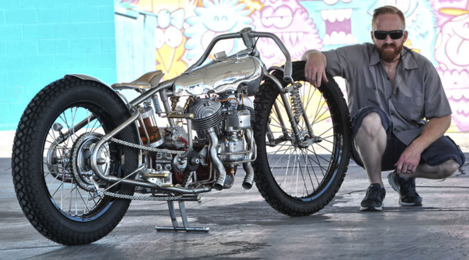 Jon Mac Dowell's wonderful work of Art 1941 Indian Scout bobber