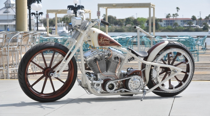 BEAUTY ON A CAPONE STREET ROD, DAYTONA BIKEWEEK 2011
